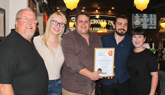 Cross wins ale award