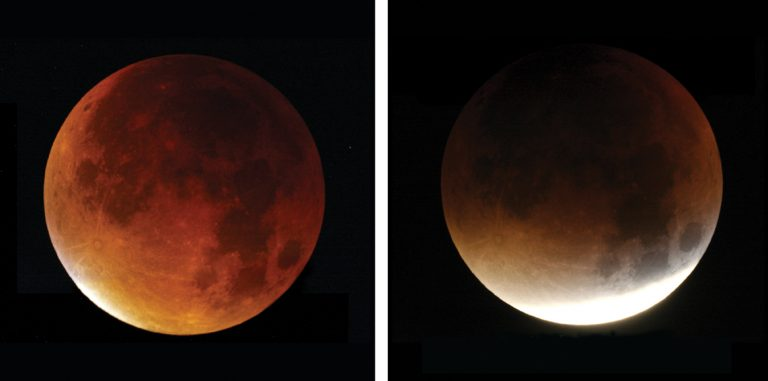 Red moon on Monday