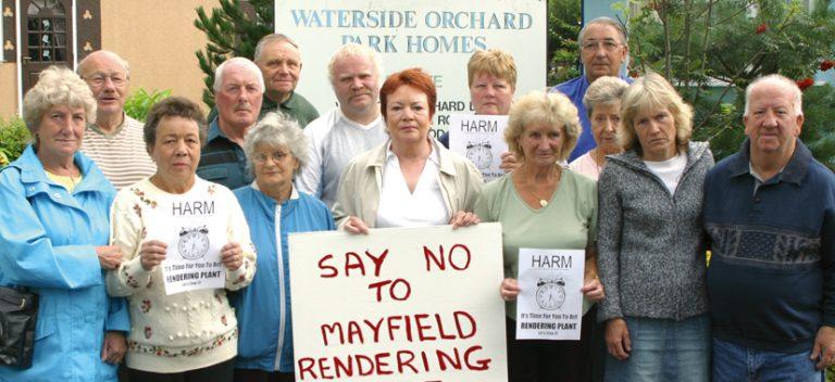 Villagers unite against animal rendering plant