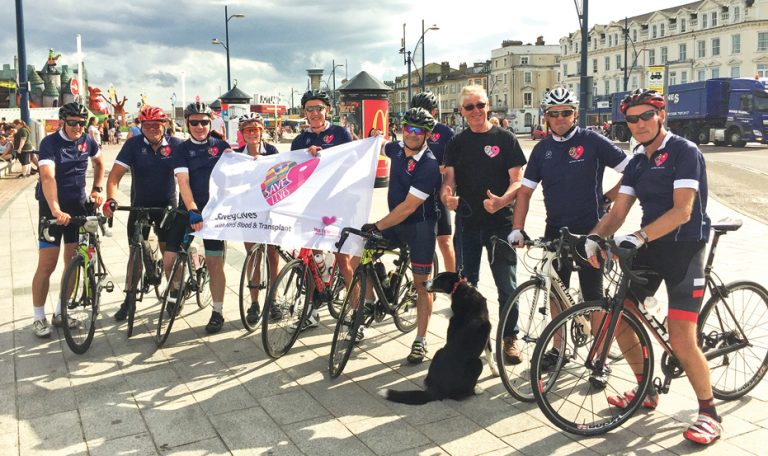 Cycle trek for organ donation campaign