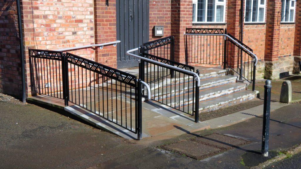 Alvechurch Village Hall - new steps.