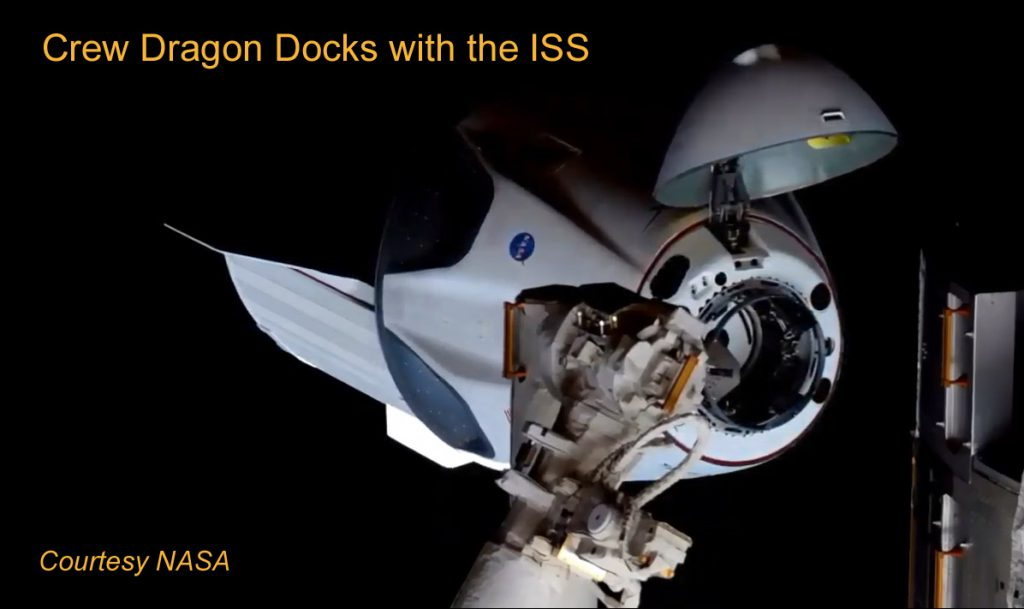 Crew Dragon Docks with the ISS